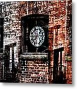 Stained Brick Metal Print