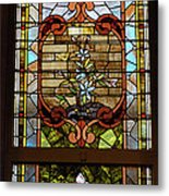 Stained Glass 3 Panel Vertical Composite 02 Metal Print by Thomas Woolworth