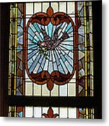 Stained Glass 3 Panel Vertical Composite 03 Metal Print