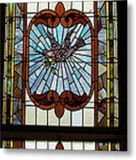 Stained Glass 3 Panel Vertical Composite 05 Metal Print by Thomas Woolworth