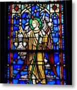 Stained Glass 50 Metal Print