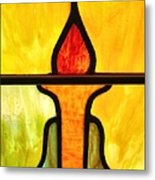 Stained Glass 8 Metal Print by Tom Druin