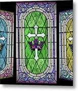 Stained Glass Beauty Metal Print