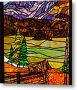 Stained-glass-beauty Metal Print