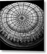 Stained Glass Dome - Bw Metal Print