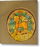 Stained Glass In Colva Metal Print