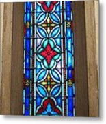 Stained Glass In Redeemer Lutheran Metal Print