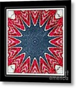 Stained Glass Lace - Kaleidoscope Metal Print