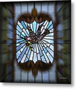 Stained Glass Lc 13 Metal Print
