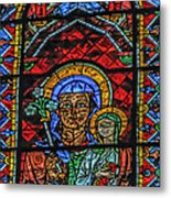 Stained Glass Of Chartres Metal Print