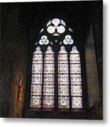 Stained Glass Of The Notre Dame Metal Print