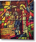 Stained Glass Proverbs 16 Verse 3 Metal Print