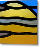 Stained Glass Scenery 3 Metal Print