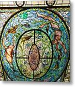 Stained Glass Skylight In Fordyce Bathhouse Metal Print