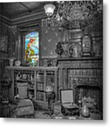 Stained Glass - The Maiden In The Sun Metal Print by Lee Dos Santos