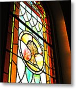 Stained Glass Wheat Metal Print by Stephanie Grooms