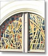 Stained Glass Window Metal Print