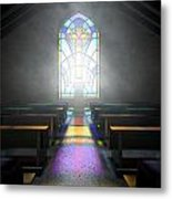 Stained Glass Window Church Metal Print