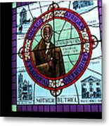 Stained Glass Window In Mother Bethal Church            Metal Print