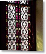 Stained Glass Window In Saint Paul's Episcopal Church-1882 In Tombstone-az Metal Print