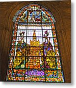 Stained Glass Window In Seville Cathedral Metal Print