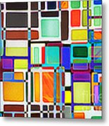 Stained Glass Window Multi-colored Abstract Metal Print