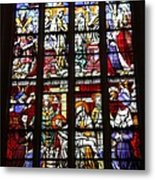 Stained Glass Window Xi Metal Print