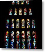 Stained Glass Windows At Basilica Of The Annunciation Metal Print by Eva Kaufman