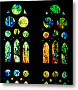 Stained Glass Windows - Sagrada Familia Barcelona Spain Metal Print