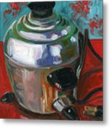 Stainless Steel Cooker Of Eggs Metal Print by Jennie Traill Schaeffer