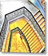 Staircase Abstract Metal Print