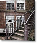 Staircase And Shutters Metal Print