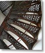 Staircase Of The Chambers Island Lighthouse Metal Print