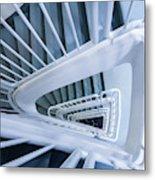 Staircase, Reykjavik Library Metal Print