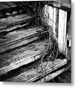 Stairing Taken Over By Time Metal Print