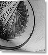 Stairs At The Fort Gratiot Light House Metal Print