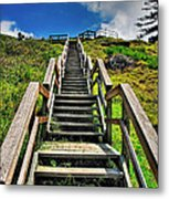 Stairs From The Beach Metal Print