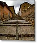 Stairs In Chinchero Peru Metal Print