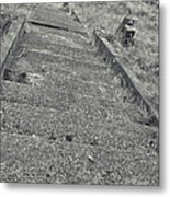 Stairs In The Cemetary Metal Print