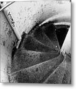 Stairs Leading Downward Into The Catacombs Of Paris France Metal Print