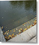 Stairs Leading Into Water Metal Print