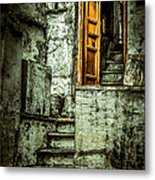 Stairs Leading To The Old Door Metal Print