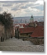 Stairs To Prague Metal Print