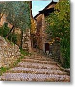 Stairs To The Village Metal Print