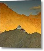 Stairs To Tsemo Metal Print by Aaron Bedell