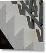 Stairs With Shadow Metal Print