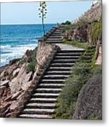 Stairway And Agave On Top. Metal Print