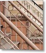 Stairway Detail Metal Print by Denice Breaux