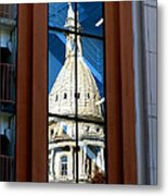 Stairway Dome Reflection Metal Print