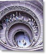 Stairway In Vatican Museum Metal Print